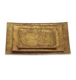 Gold Foil Tin Tray Set