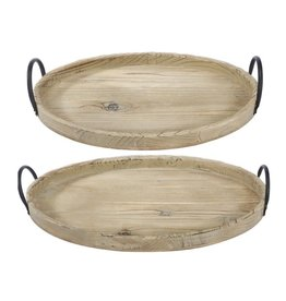 A&B Home Farmers Market Wooden Tray Large