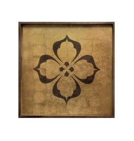 "RockFlowerPaper Rambagh Gold 15"" Square Tray"