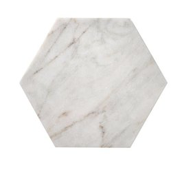 Bloomingville White Marble Hexagon Tray/Cutting Board