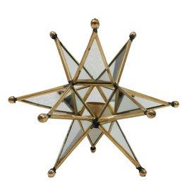 A&B Home Gold Mirrored Star Tealight Holder