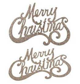 A&B Home S/2 Hanging Merry Christmas Sign