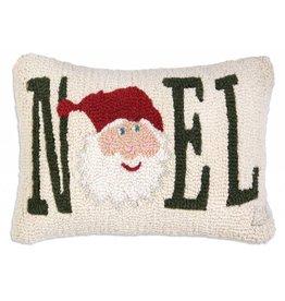 Chandler 4 Corners Noel Santa Hooked Wool Pillow