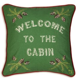 Chandler 4 Corners Welcome to the Cabin Canvas Pillow