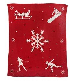 Chandler 4 Corners Winter Sport Cotton Knit Throw Blanket