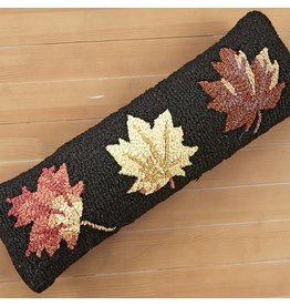 Chandler 4 Corners Fall Leaves Lumbar Hooked Wool Pillow
