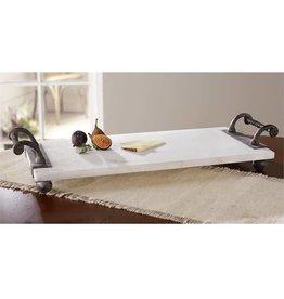 Twisted Metal Handle Marble Board