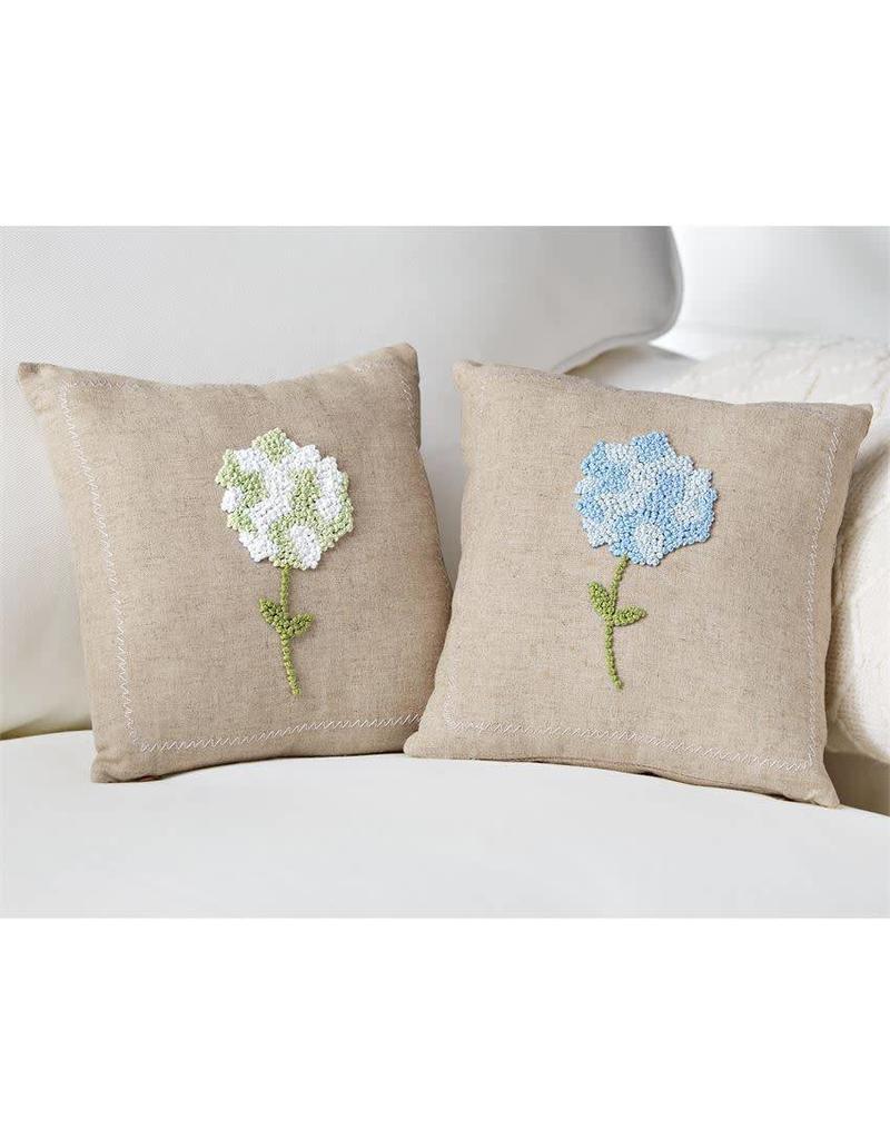 """Blue Hydrangea Pillow 9.5"""""""