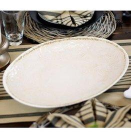 Tag Ltd Oval Floral Embellish Platter