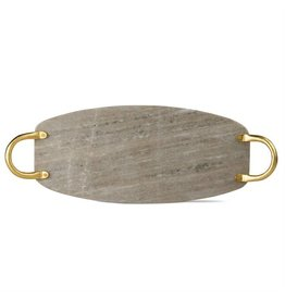 Tag Ltd Beige Marble Board w/ Gold Handles