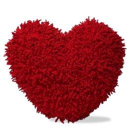 Tag Ltd SHAGGY CHENILLE HEART PILLOW
