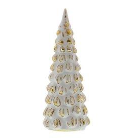 HomArt Snowy Glass Tree Silver & White - Medium