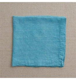 Split P Linen Napkin Aqua