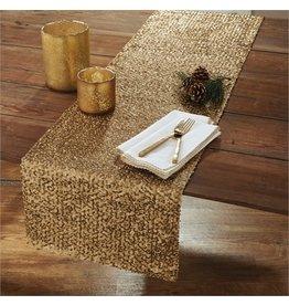 Split P Crochet Edge Napkin Gold