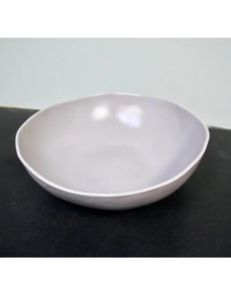"Alex Marshall Pottery 14"" Round Bowl Grey"