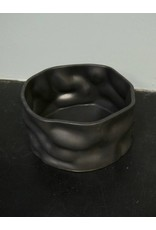 "Alex Marshall Pottery 8"" Ripple Bowl Charcoal"