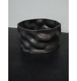 "Alex Marshall Pottery 8"" Ripple Bowl Charcoal"