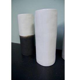 Alex Marshall Pottery Small Cylinder Vase Gloss White