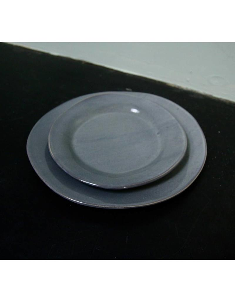 "Alex Marshall Pottery 10.5"" Classic Round Dinner Blue Grey"