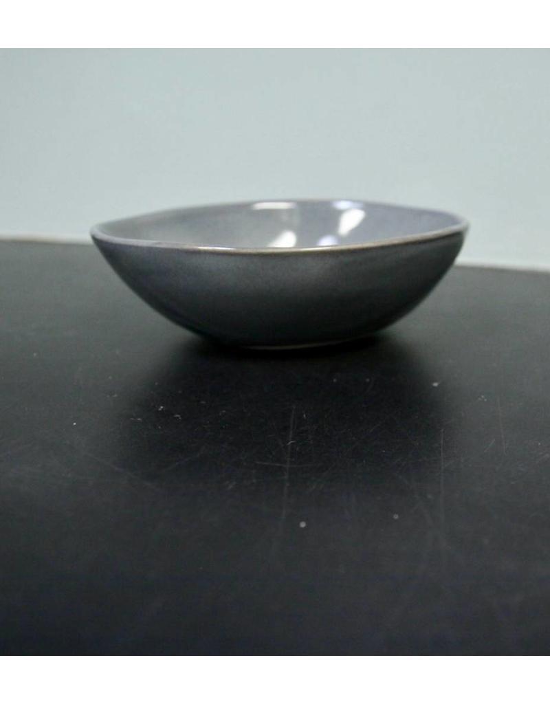 "Alex Marshall Pottery 6.5"" Slim Round Bowl Blue Grey"