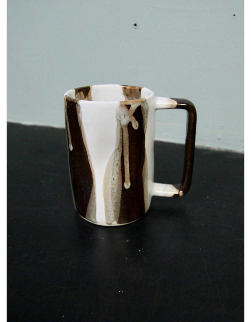 Alex Marshall Pottery Tall Mug B&W Stripe