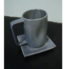 Alex Marshall Pottery Tall Mug Blue Grey