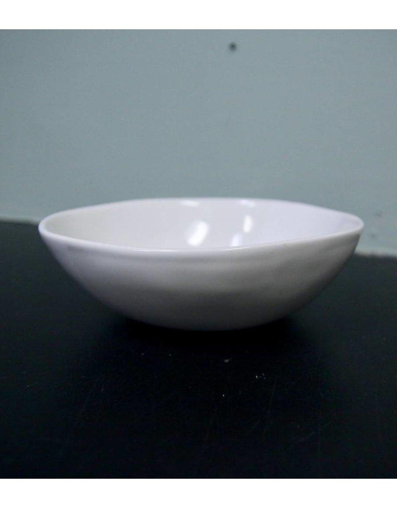 "Alex Marshall Pottery 6.5"" Slim Round Bowl Gloss White"