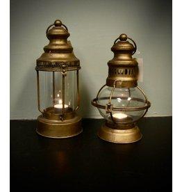 """12.5"""" Round Glass Lantern"""