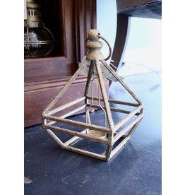 "Gold 12"" Lantern Tealight Holder Square"