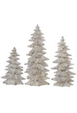 "9.5"" Tree Set/3 Cream"