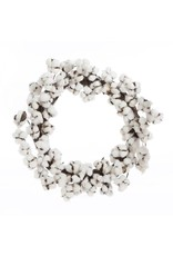 "24"" Cotton Ball Wreath"