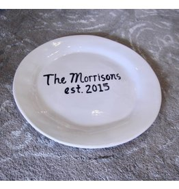 Alex Marshall Pottery Personalized Monogram Charger