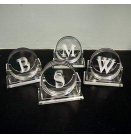 Initial Acrylic Coaster Set
