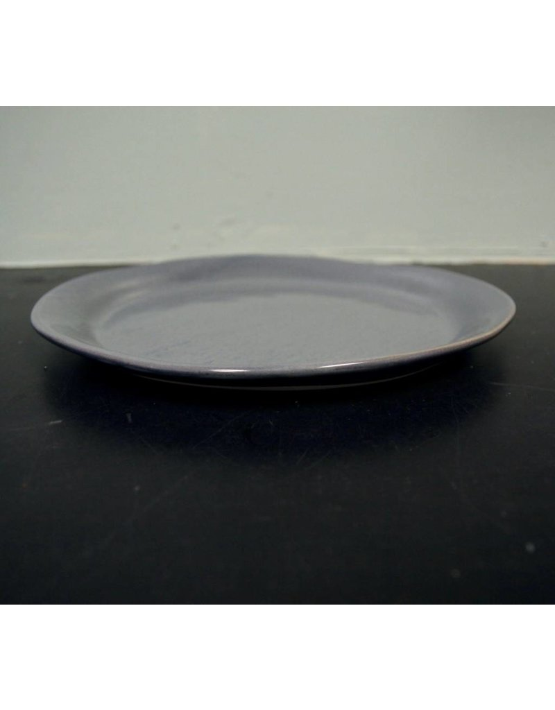 "Alex Marshall Pottery 11.25"" Slim Round Dinner Blue Grey"