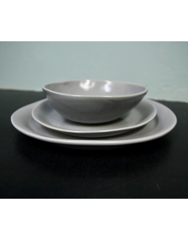 "Alex Marshall Pottery 11.25"" Slim Round Dinner Grey"