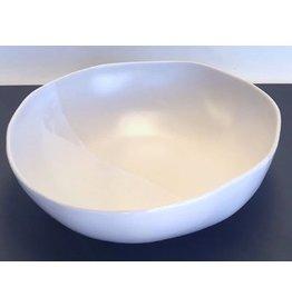 "Alex Marshall Pottery 14"" Round Bowl Gloss White"