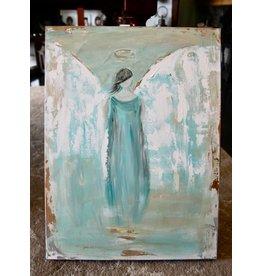 Pamela Harpour Blue Angel Original Art 18 x 24