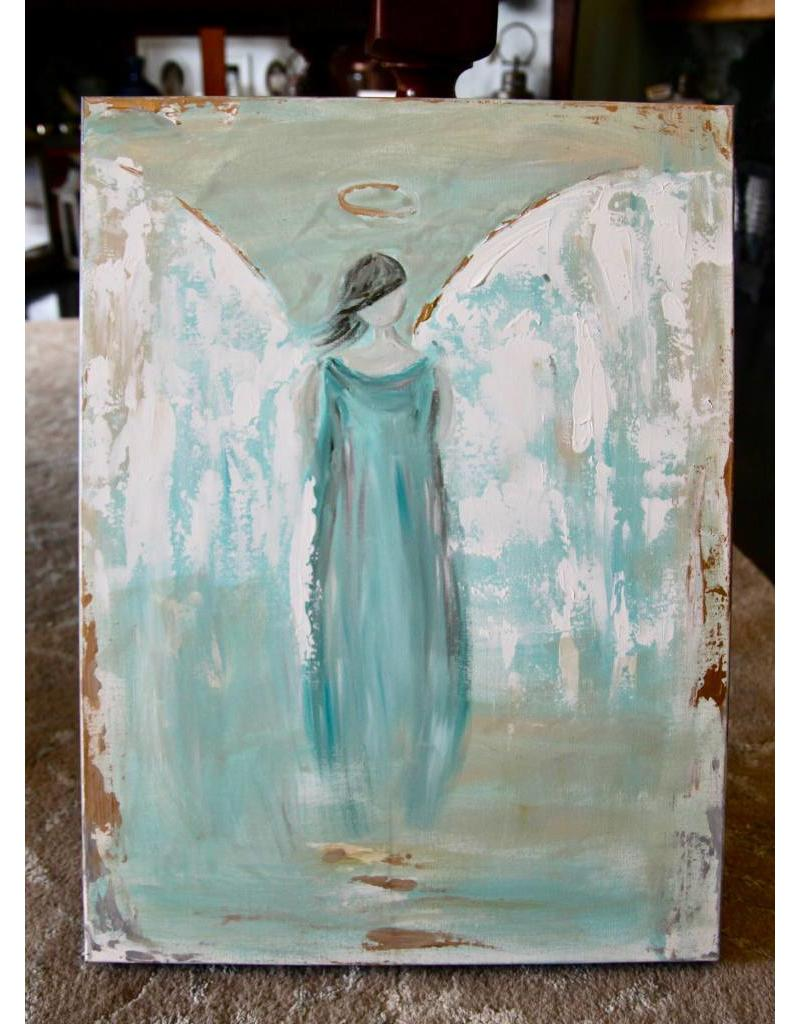 Pamela Harpour Blue Angel Original Art 18 x 24