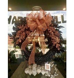 Orange & Black Classic Wreath