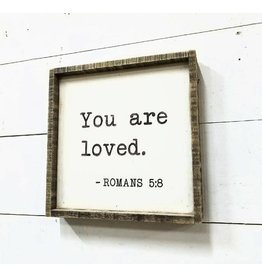 "Revelation Culture You Are Loved Gallery Sign 12"" x 12"""