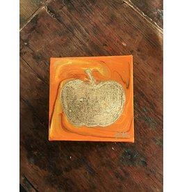 Kris Marks Kris Marks 4 x 4 Pumpkin Painting Solid Gold
