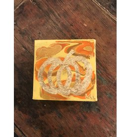 Kris Marks Kris Marks 4 x 4 Pumpkin Painting Yellow