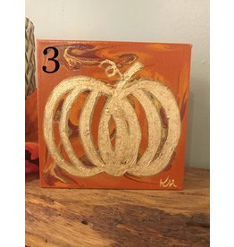 Kris Marks Kris Marks 6 x 6 Pumpkin Painting 3