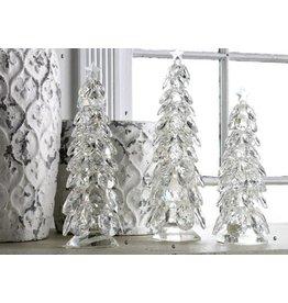 K & K Interiors Small Crystal Tear Drop Christmas Tree w/ Star
