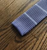 Peter Blair Peter Blair Knit Tie Purple / White Stripe
