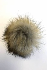 Pom pom Faux Fur with snaps - Raccoon