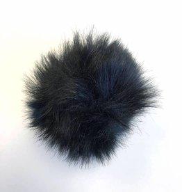 Pom pom Faux Fur -  Black