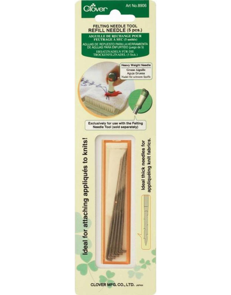 Clover Needle Felt Refill - Coarse, 5 in package