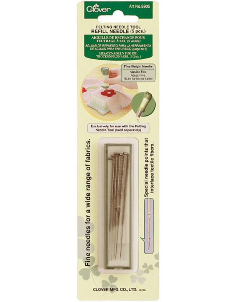 Clover Needle Felt Refill, Fine, 5 in package