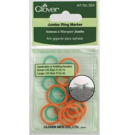 Clover Stitch Markers - Ring, Jumbo, 20 per package
